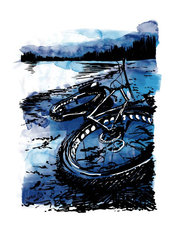 Fat Bike Wall Mural