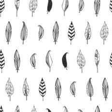 Feather Plume Pattern Wallpaper