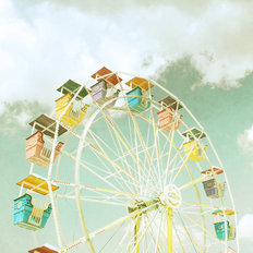 Ferris Wheel (Longenecker) Mural Wallpaper