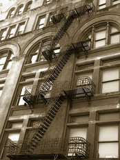 Fire Escape Mural Wallpaper