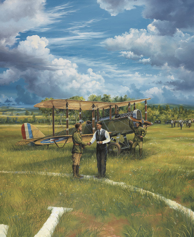 First Landing - Shepard's Field, June 17, 1923 Mural Wallpaper