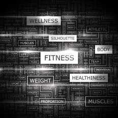 Fitness Wordcloud Wallpaper Mural