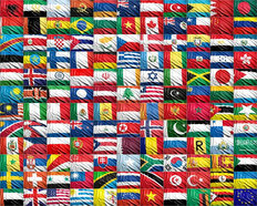 Flag Collection Mural Wallpaper