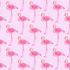 Flamingo Flock Pattern Wallpaper