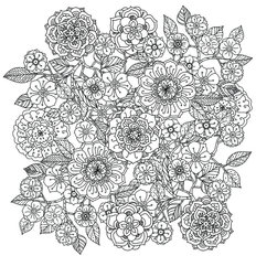 Floral Ornament Mandala Wallpaper Mural