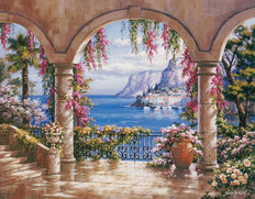 Floral Patio I Wall Mural