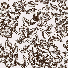 Floral Ink Pattern Wallpaper