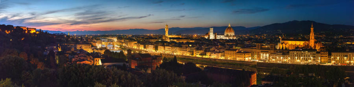 Florence Sunset Cityscape Wall Mural