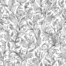 Flower Doodle Pattern Wallpaper