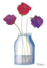Flowers in a Jar 7 Wallpaper Mural