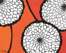 Flowers in Unity - Orange Wallpaper Mural