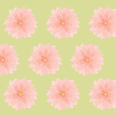 Flowers - Pastel Pink & Green Wallpaper