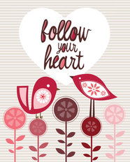 Follow Your Heart Mural Wallpaper