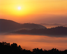 Foothills Parkway Sunrise, Smoky Mountains (Burk) Wallpaper Mural