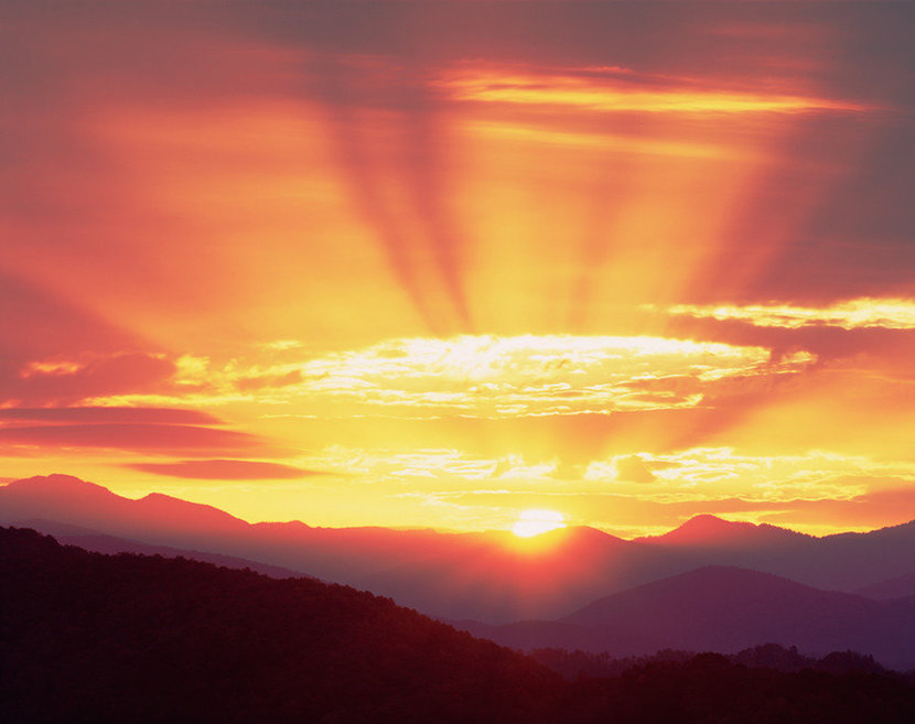 Foothills Parkway Sunrise, Smoky Mountains Wall Mural