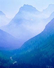 Forest Fire, Glacier National Park, Montana Wallpaper Mural