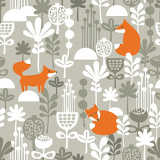 Forest Fox Pattern Wallpaper