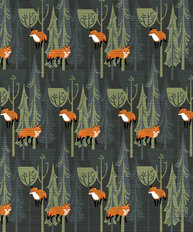 Fox Mix Pattern Wallpaper