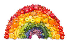 Fruit And Vegetable Rainbow Wall Mural