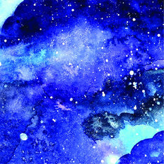 Galaxy Watercolor Wallpaper Mural