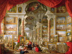 Gallery With Views Of Modern Rome, 1759 Wallpaper Mural
