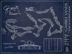 Gamble Sands Blueprint Wall Mural