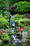 Garden Waterfalls Wallpaper Mural
