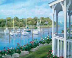 Gazebo On The Harbor Mural Wallpaper