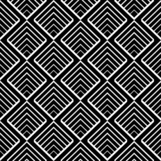 Geometric Pattern In Black and White Wallpaper