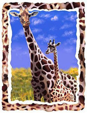 Giraffe Love Wallpaper Mural