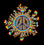 Glowing Psychedelic Peace Sign Wallpaper Mural