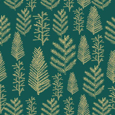 Gold Christmas Tree Pattern Wallpaper