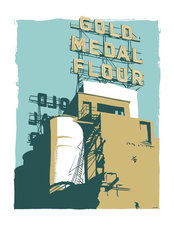 Gold Medal Flour Building Wall Mural