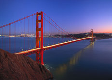Golden Gate at Night, San Francisco Mural Wallpaper