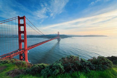 Golden Gate Bridge (View From Marin Headlands) Wallpaper Mural