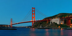 Golden Gate Bridge Evening Wallpaper Mural