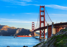 Golden Gate Bridge In The Morning Wall Mural