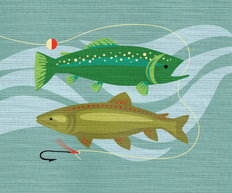 Gone Fishing  Wall Mural
