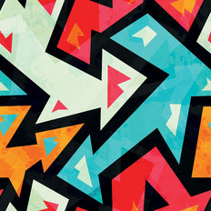 Graffiti Arrows Seamless Pattern With Grunge Effect Wallpaper
