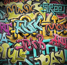 Graffiti Grunge Background Mural Wallpaper