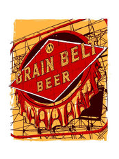 Grain Belt Sign Wall Mural