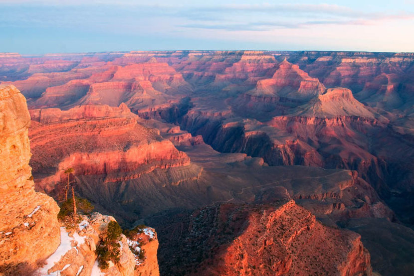 Grand Canyon After Glow Mural Wallpaper