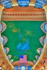 Grand Central Ceiling Mural Wallpaper
