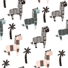 Graphic Zebra Pattern Wallpaper