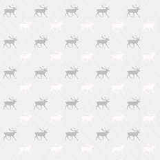Gray And White Reindeer Pattern Wallpaper Mural