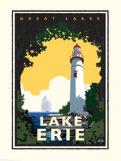 Great Lakes - Lake Erie Mural Wallpaper