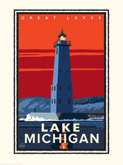 Great Lakes - Lake Michigan Mural Wallpaper