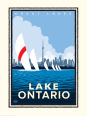 Great Lakes - Lake Ontario Wall Mural