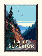Great Lakes - Lake Superior Wallpaper Mural