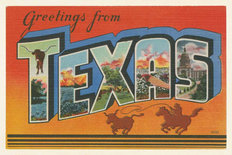 Greetings From Texas Wallpaper Mural